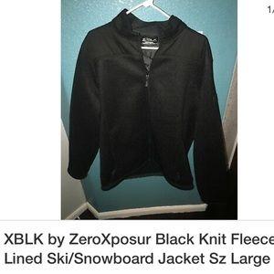 Mens XBLK by zeroxposur Black Jacket Fleece lined